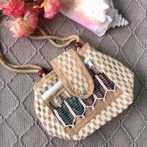 Handbags - Boho Straw Jute Rafa Woven Beach Bag